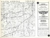 Clifton, River Falls T27N-R19W, Pierce County 1960